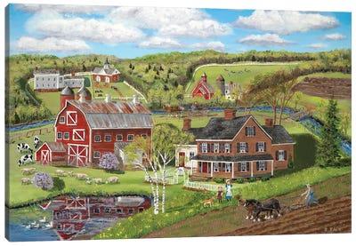 Spring Plowing Canvas Art Print