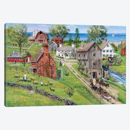 Sweet Meadow Farms Canvas Print #BOF121} by Bob Fair Canvas Art