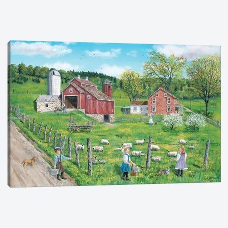 That's My Lamb Canvas Print #BOF122} by Bob Fair Canvas Artwork