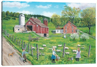 That's My Lamb Canvas Art Print