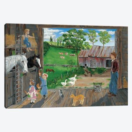 The Barn Canvas Print #BOF123} by Bob Fair Canvas Artwork