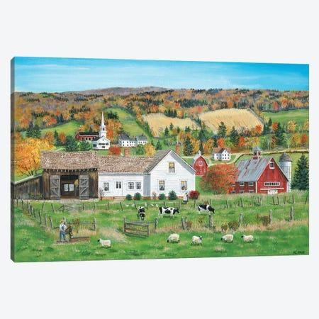 Autumn Fields Canvas Print #BOF12} by Bob Fair Canvas Artwork