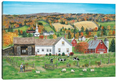 Autumn Fields Canvas Art Print