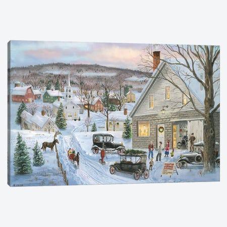 The Tin Lizzy Canvas Print #BOF135} by Bob Fair Canvas Wall Art