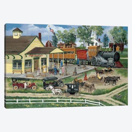 Train Station Canvas Print #BOF138} by Bob Fair Canvas Art Print
