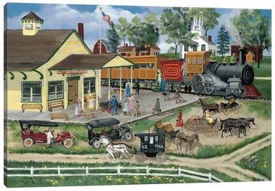 Train Station Canvas Art Print