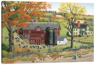 Autumn Pasture Canvas Art Print