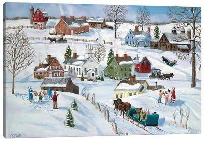 Winter Hamlet Canvas Art Print