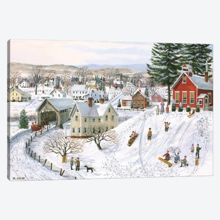 Winter Recess Canvas Print #BOF147} by Bob Fair Canvas Print
