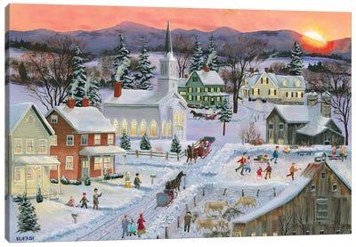 Winter Sunset Canvas Art Print