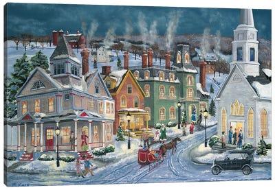 Winter's Eve Canvas Art Print