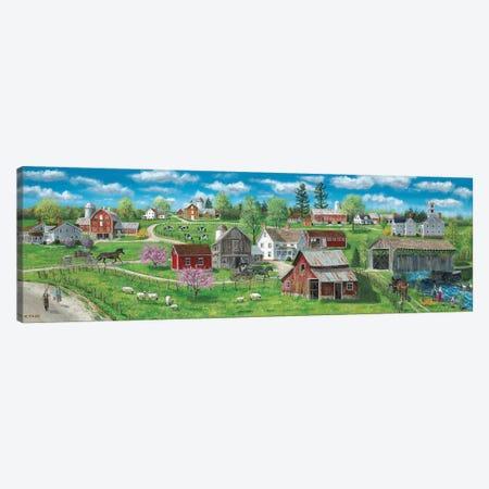 Barns and Silos Canvas Print #BOF15} by Bob Fair Art Print