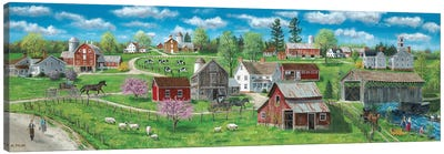 Barns and Silos Canvas Art Print
