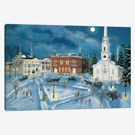 Berkshire Green in Winter (Lee Mass) Canvas Print #BOF16} by Bob Fair Canvas Art Print