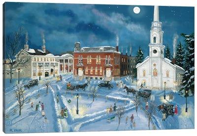 Berkshire Green in Winter (Lee Mass) Canvas Art Print