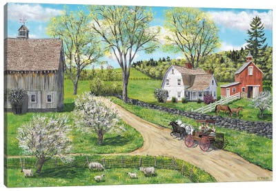 Blessings of Spring Canvas Art Print