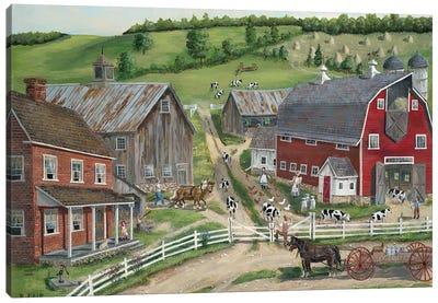 Busy Barnyard Canvas Art Print