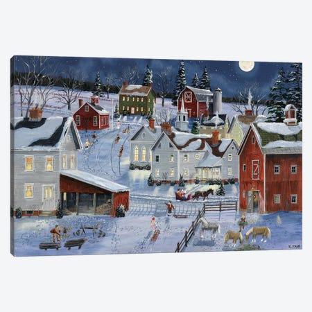 Busy Village Canvas Print #BOF22} by Bob Fair Art Print