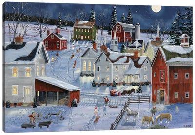 Busy Village Canvas Art Print