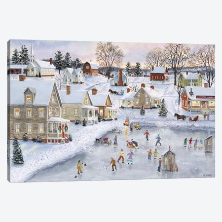 Christmas at the Cove Canvas Print #BOF26} by Bob Fair Canvas Art