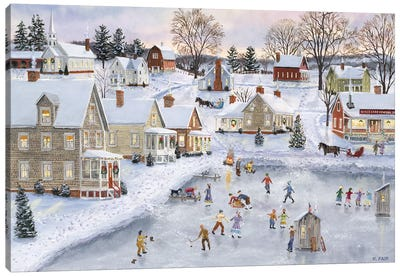 Christmas at the Cove Canvas Art Print