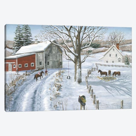 Christmas Delivery Canvas Print #BOF27} by Bob Fair Canvas Artwork
