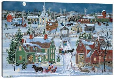 Christmas Homecoming Canvas Art Print