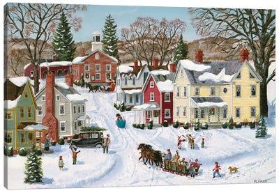 Christmas Sleigh Canvas Art Print
