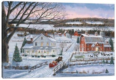 Christmas Sleigh Ride Canvas Art Print