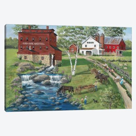 Cold Creek Mill Canvas Print #BOF31} by Bob Fair Canvas Wall Art