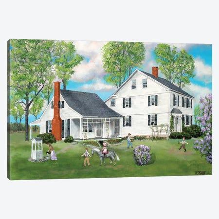 Connecticut Home Stead Canvas Print #BOF34} by Bob Fair Art Print