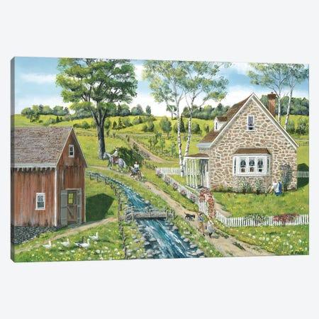 Cottage Pathway Canvas Print #BOF35} by Bob Fair Art Print