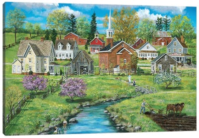 Crab Apple Creek Canvas Art Print