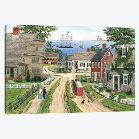 A Captian's Walk to Sea Canvas Print #BOF3} by Bob Fair Canvas Art Print