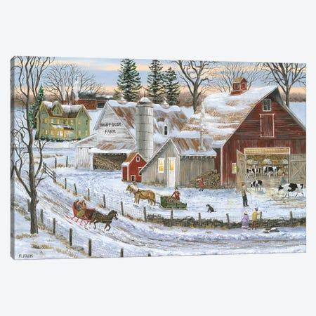 Dawn-T-Dusk Farm Canvas Print #BOF42} by Bob Fair Art Print