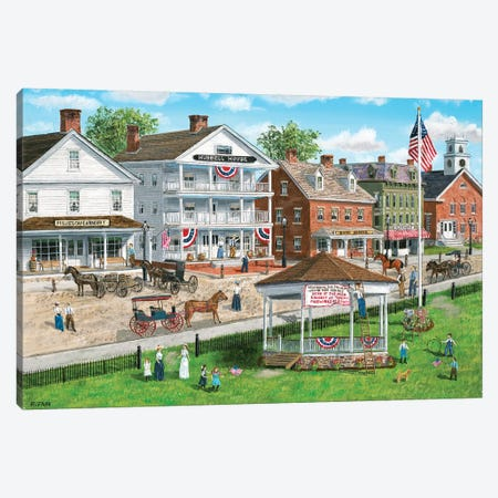 Fourth of July at the Park Canvas Print #BOF52} by Bob Fair Canvas Art