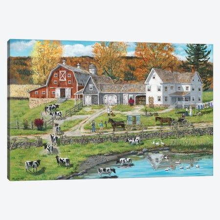 Friends on the Farm Canvas Print #BOF54} by Bob Fair Art Print