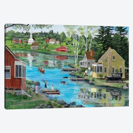 Glass Lake Canvas Print #BOF57} by Bob Fair Art Print