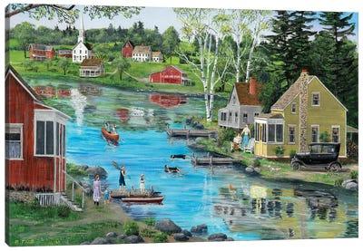 Glass Lake Canvas Art Print
