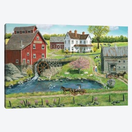 Granger's Mill Canvas Print #BOF59} by Bob Fair Canvas Wall Art