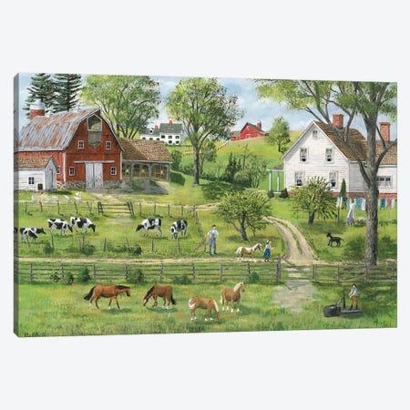 Green Shades of Summer Canvas Print #BOF60} by Bob Fair Art Print