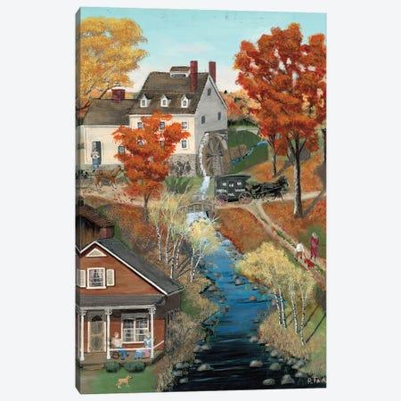 Grist Mill In Fall Canvas Print #BOF61} by Bob Fair Art Print