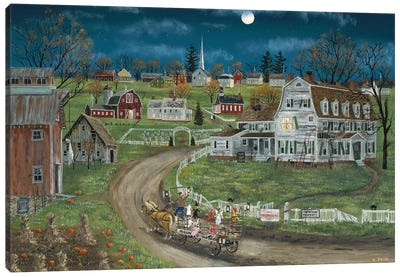 Haunted Hayride Canvas Art Print