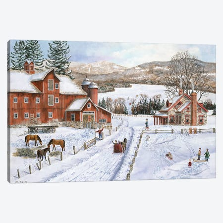 Hidden Lake Farm Canvas Print #BOF64} by Bob Fair Canvas Art