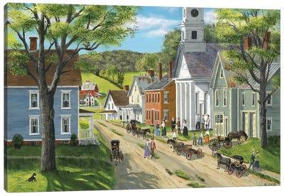 After Church Canvas Art Print