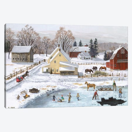 Ice In The Country Canvas Print #BOF70} by Bob Fair Canvas Wall Art