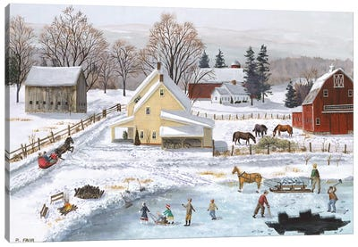 Ice In The Country Canvas Art Print