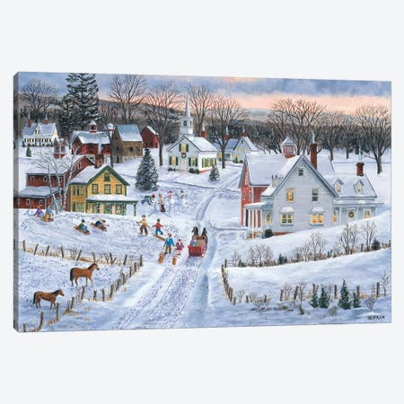 Joyful Season Canvas Print #BOF72} by Bob Fair Canvas Artwork