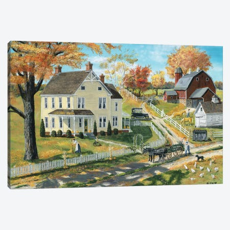 Milk Pick Up Canvas Print #BOF82} by Bob Fair Art Print