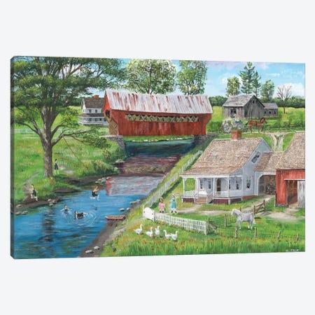 New Enlgland Homestead Canvas Print #BOF84} by Bob Fair Canvas Wall Art